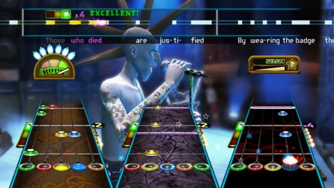 Oh, and it looks like Guitar Hero, in case you were wondering.