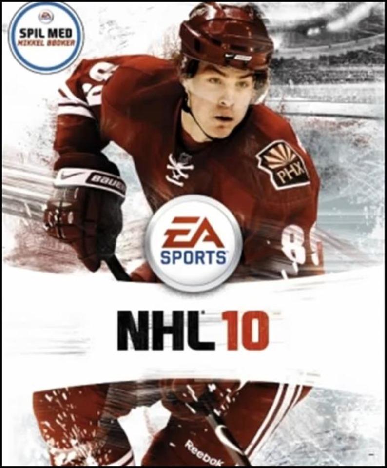 Boedker on the Danish Cover of NHL 10