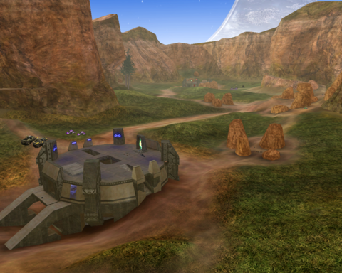 A view of Coagulation's canyon, from behind the Blue base.