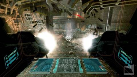 The game features pilotable mechs.