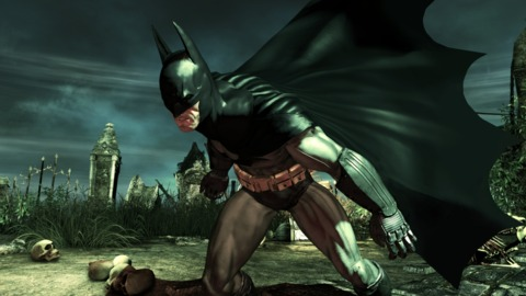 Batman's suit gets ripped up as you progress through the game.