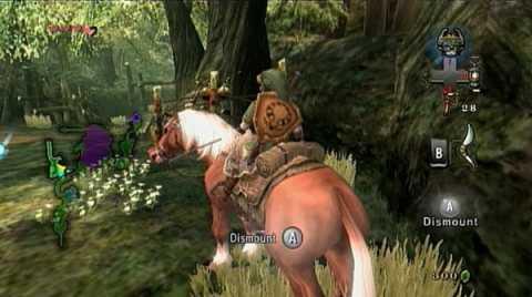 Link rides Epona through Faron