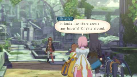 There is always someone with pink hair in these games, and this time it's Estellise!
