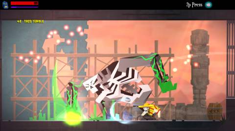 Fights against the game's bigger baddies are tough, but the real challenge tends to emerge from the game's occasionally brutal jump puzzles.