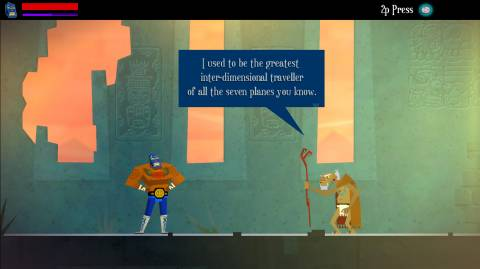 You play as Juan, a workaday farmer-turned-lucha libre superhero out for revenge.