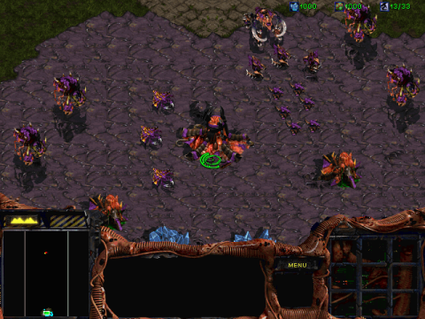 Overlords as they appear in StarCraft.