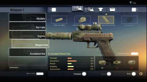 Modifying a pistol.