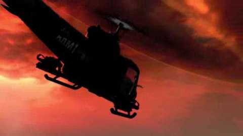 It wouldn't be 'Nam without a chopper or two. At one point you'll fly one for yourself.