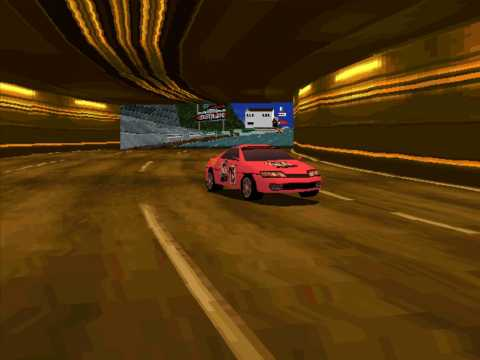 Drifting through a tunnel (PlayStation version)
