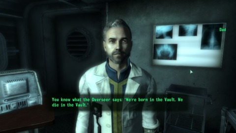 A conversation with Dad in Vault 101