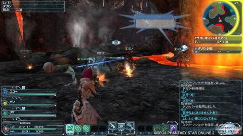Phantasy Star Online 2 in-quest combat