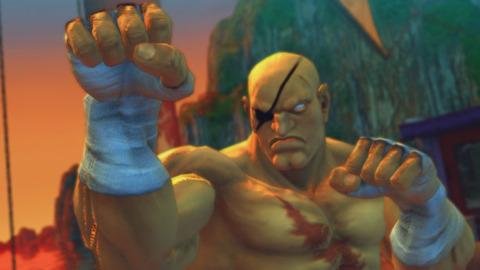Sagat as he looks in Street Fighter IV.