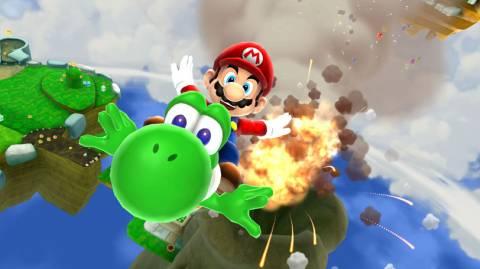 Yoshi and Mario in World 1