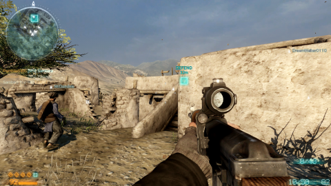 The dot-matrix display style for the multiplayer HUD is one of Medal of Honor's cooler ideas.