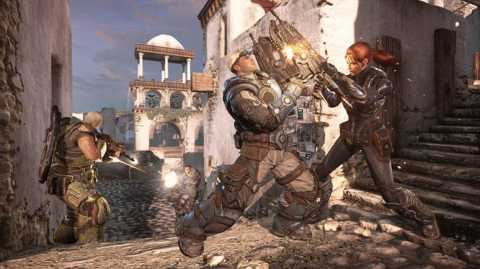 You'll see a lot of human-on-human chainsaw fights--most of the competitive multiplayer doesn't have any Locust characters.