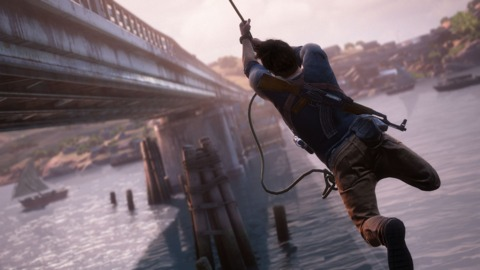 The new grappling hook gets plenty of time to shine.