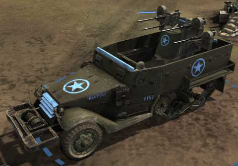 Allied Halftrack equipped with Maxson Quad