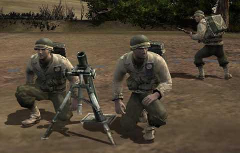 Allied  Mortar Team