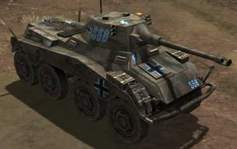 Axis Armored Car equipped with 75mm Puma cannon