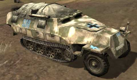 Axis Halftrack equipped with Flammenwerfer