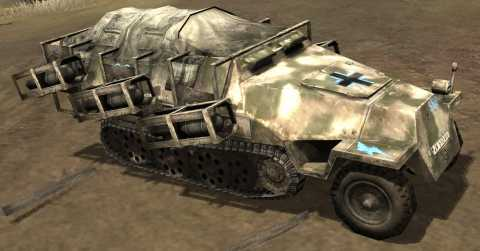 Axis Halftrack equipped with Walking Stuka rockets