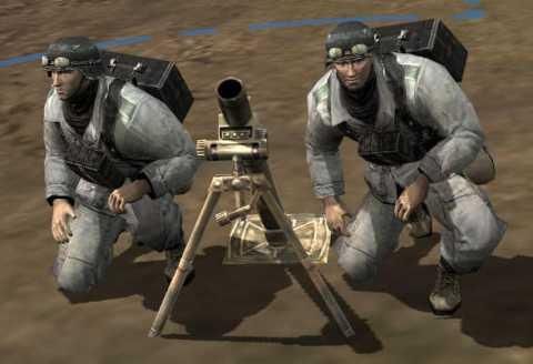 Axis Mortar Team