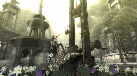 One of Bayonetta's Many Torture Attacks