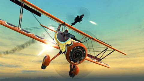 A wide variety of vehicles can be used, including biplanes.