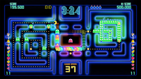 The ghosts have numbers, but YOU ARE THE PAC-MAN.