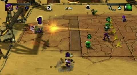 The goal as seen in Mario Strikers Charged.