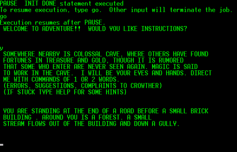 A screenshot showing the opening text.