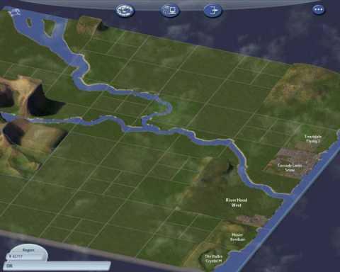 Region view in Sim City 4