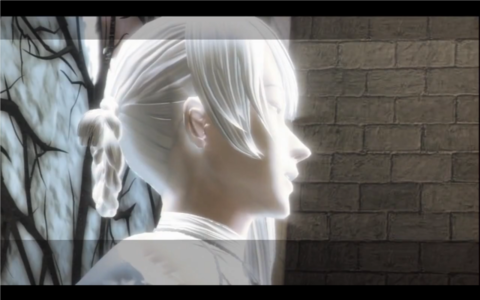 Kainé as she is turned to stone.