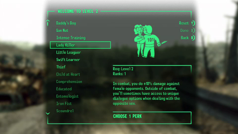 Perks let you further customize your character whenever you gain a level.