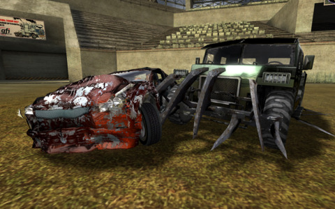 Drivers fight to the death in the Arena.