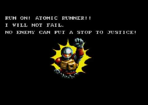 Atomic Runner, bursting through a wall of awesome!