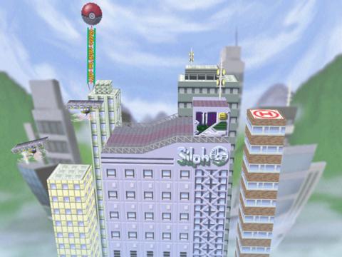 The Saffron City stage in Super Smash Bros. for the Nintendo 64