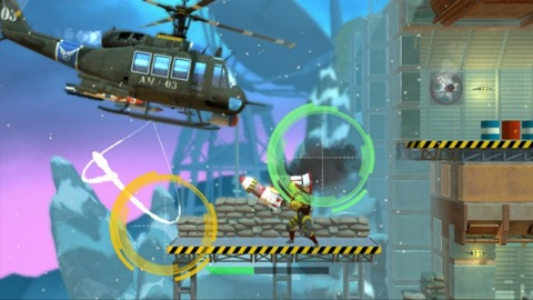 When you fly over a level, you get control of a mounted gun that lays waste to anything that gets close.