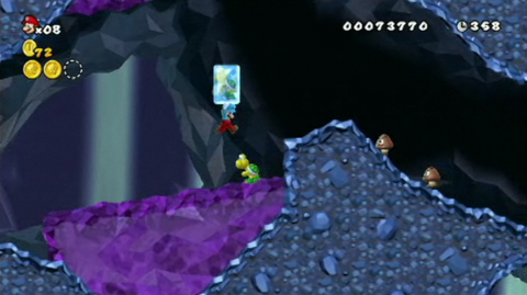 There are a lot of rotating platforms and other tricky stuff to deal with in the later levels.