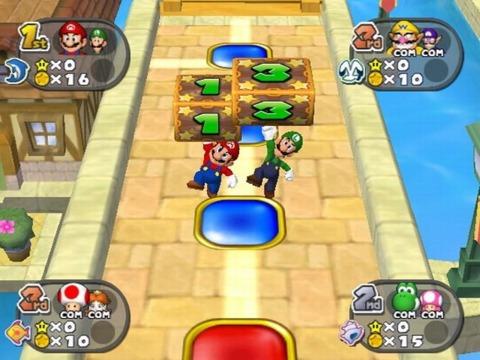 Mario & Luigi just hit their Dice Blocks in order to move!