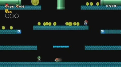 This coin battle stage takes things back to the original Mario Bros.