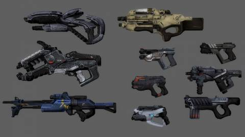 Various DLC weapons available