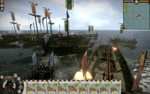 Naval battles add fun variety but have minor control issues