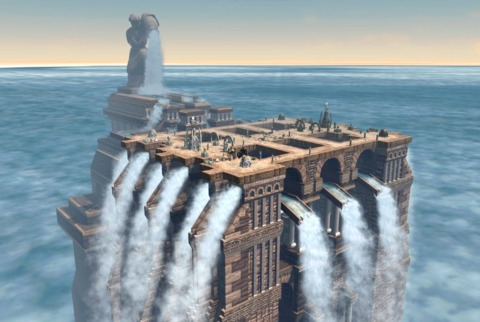Battles take place in massive floating arenas