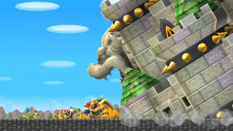 Bowser's Castle as seen in New Super Mario Bros. Wii.