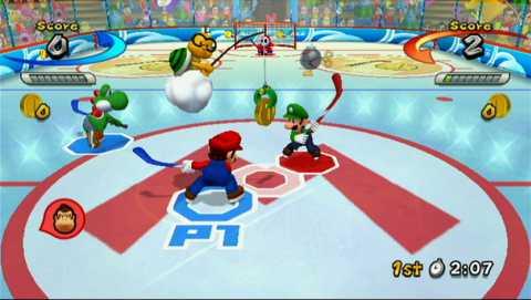 Ice Hockey as seen in Mario Sports Mix.