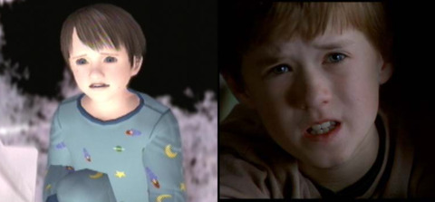 Dream child & Haley Joel Osment (this picture isn't great, but trust me, the kid looks exactly like HJO from the 6th Sense)