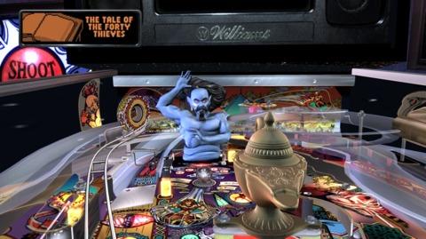 Hit the genie to start multiball!