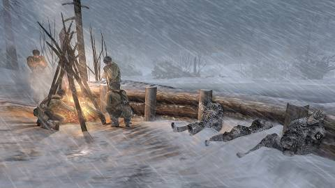 The cold environment can take a heavy toll on your or your enemy's men