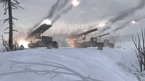 Katyusha rocket launchers